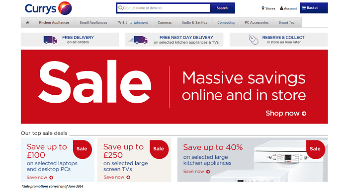 Currys PC World discount codes homepage